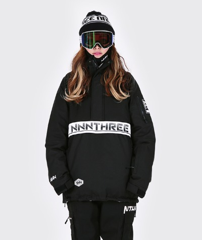 1920 NNN - Double anorak 2 - JACKET -블랙+화이트