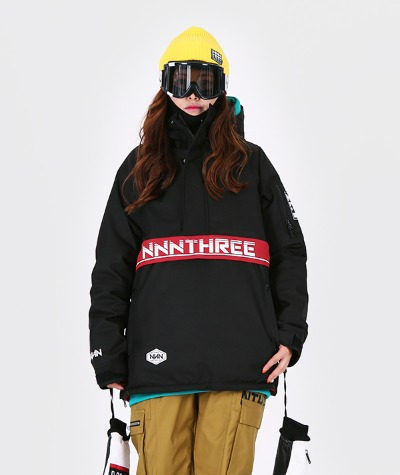 1920 NNN - Double anorak 2 - JACKET -블랙+레드