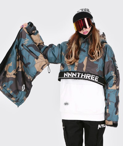 1920 NNN - Double anorak 2 - JACKET -카모1+블랙1