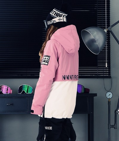 1920 NNN - Double anorak 2 - JACKET -핑크+화이트