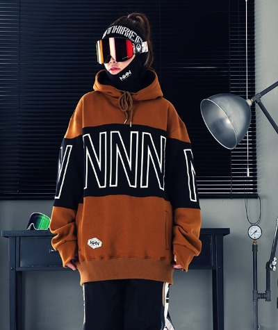 1920 NNN - TWO COLOR - HOOD - 브라운+블랙
